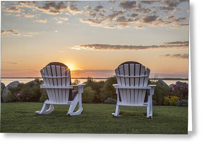 Chatham Greeting Cards - Sunrise in Chatham Greeting Card by Betty Wiley