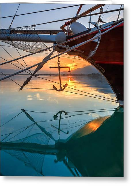 Recently Sold -  - Schooner Greeting Cards - Sunrise in Fethiye Greeting Card by Jeff Sullivan