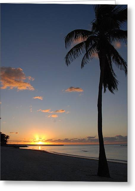 Key West Greeting Cards - Sunrise in Key West 2 Greeting Card by Susanne Van Hulst