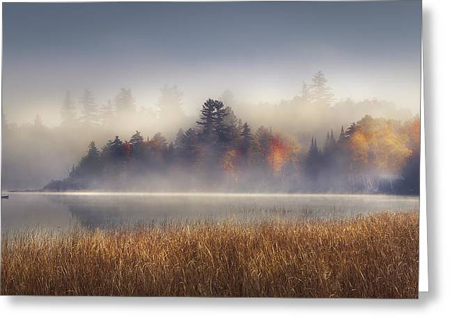 Placid Blue Greeting Cards - Sunrise in Lake Placid  Greeting Card by Magda  Bognar