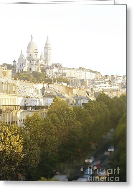 Greeting Cards - Sunrise in Montmartre Greeting Card by Ivy Ho