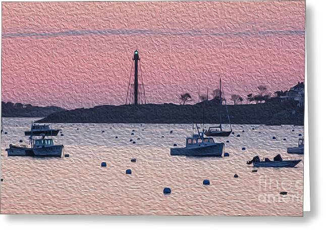 Masts Greeting Cards - Sunrise in Oils Greeting Card by Ruth H Curtis