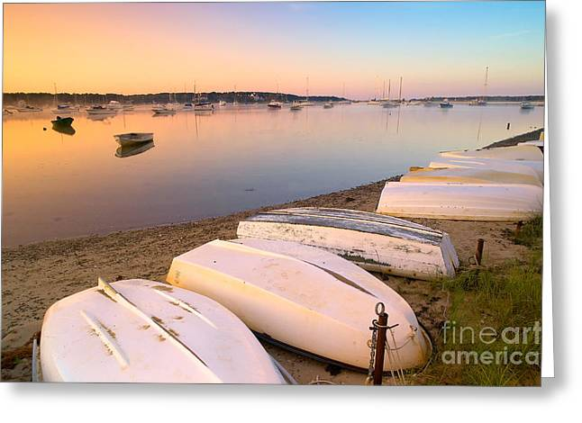 Sunrise. Water Greeting Cards - Sunrise in Osterville Cape Cod Massachusetts Greeting Card by Matt Suess