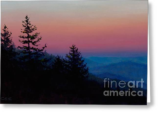 Sunrise In The Smokies Greeting Card by Christa Eppinghaus