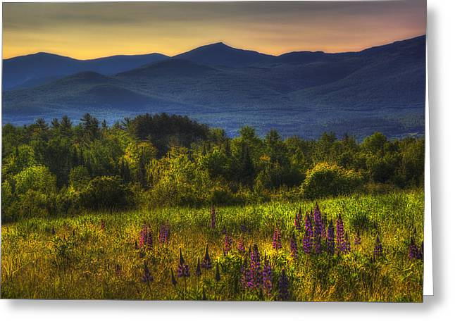 Scenic Greeting Cards - Sunrise in the White Mountains of New Hampshire Greeting Card by Joann Vitali