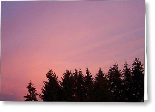 Skyclouds Greeting Cards - Sunrise In Washington Greeting Card by Laurie Kidd