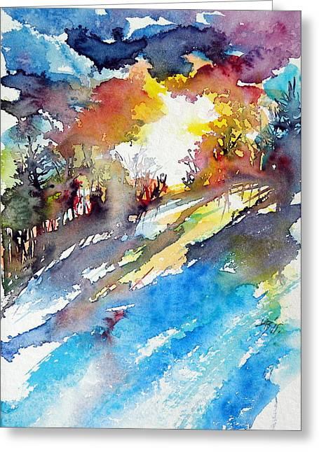 Sunrise Greeting Card by Kovacs Anna Brigitta