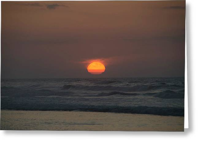 Sunrise Melting Out Of The Sea - Wildwood New Jersey Greeting Card by Bill Cannon
