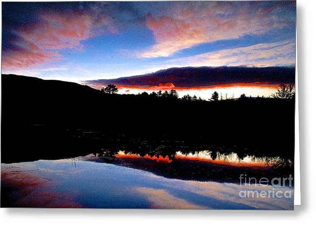 Geology Photographs Greeting Cards - Sunrise Mount Monanock Greeting Card by Galen Trinkle