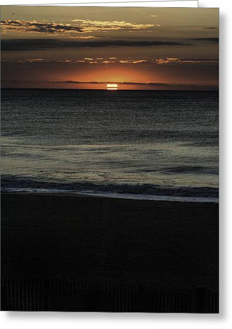 Surf City Greeting Cards - Sunrise Ocean City Greeting Card by Jim Moore