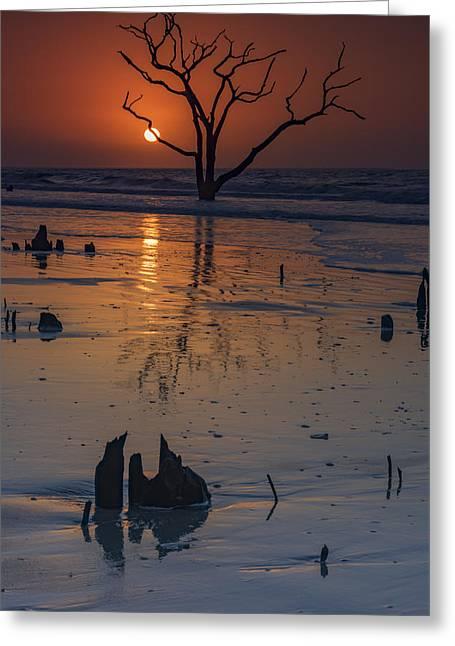 Sunrise On Boneyard Beach Greeting Card by Rick Berk