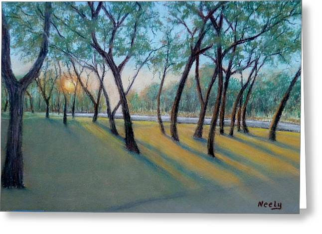 Neely Greeting Cards - Sunrise on Chaparral Greeting Card by Pat Neely