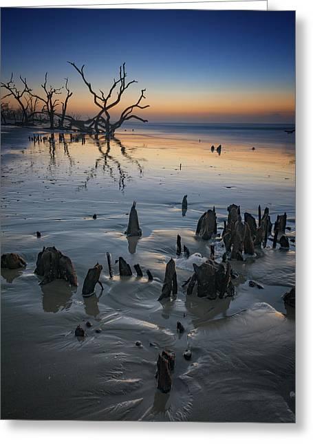 Sunrise On Edisto Island Greeting Card by Rick Berk