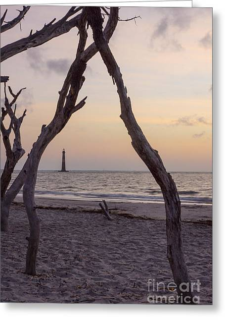 Landscape Framed Prints Greeting Cards - Sunrise on Folly Greeting Card by Jennifer White