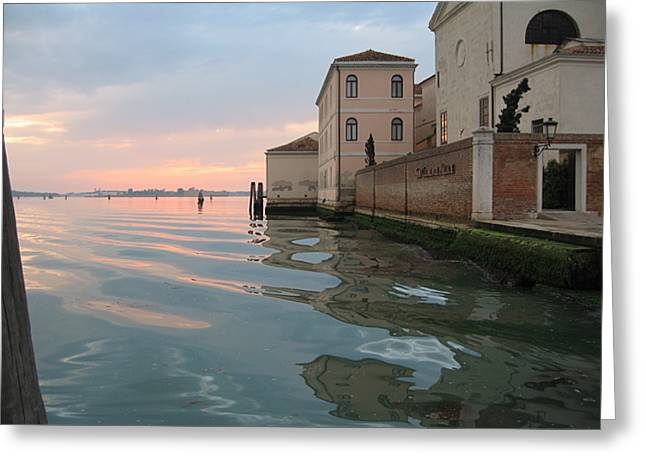 Sunrise on Isola Di San Clemente Venice Greeting Card by Harry Mason