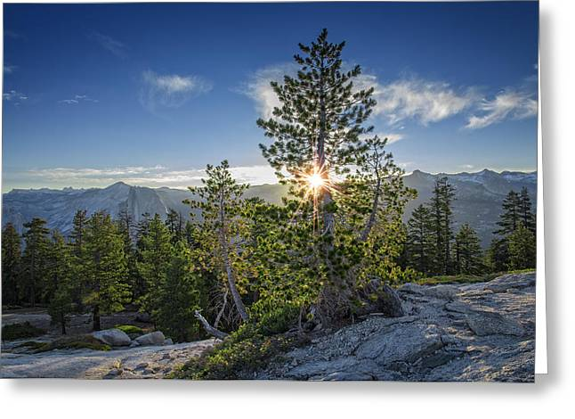 Sunrise On Sentinel Dome Greeting Card by Rick Berk