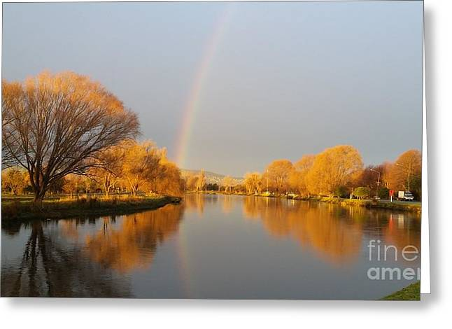 Greeting Cards - Sunrise on the Avon River  Greeting Card by Joyce Woodhouse