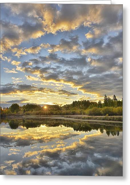 Deschutes River Greeting Cards - Sunrise on the Deschutes Greeting Card by Christian Heeb