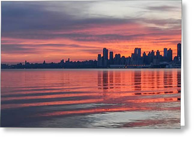 Sunrise On The Hudson River Greeting Card by Bill Cannon