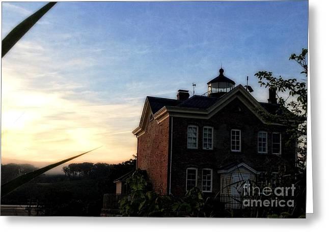 Saugerties Greeting Cards - Sunrise on The Hudson River No. 7 - Saugerties Lighthouse Greeting Card by Cheryl Kurman
