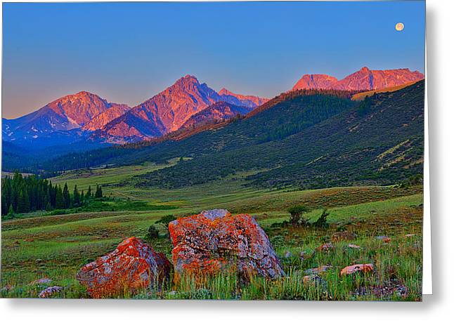 Sunrise On The Lost River Range Greeting Card by Greg Norrell