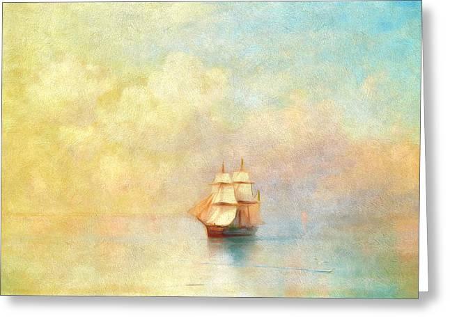 Sunrise On The Sea Greeting Card by Georgiana Romanovna