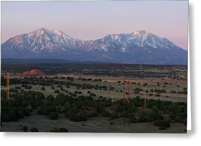 Soft Light Greeting Cards - Sunrise on the Spanish Peaks Greeting Card by Aaron Spong