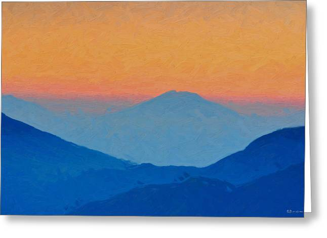 Ultra Modern Greeting Cards - Sunrise over Blue Mountains Greeting Card by Serge Averbukh