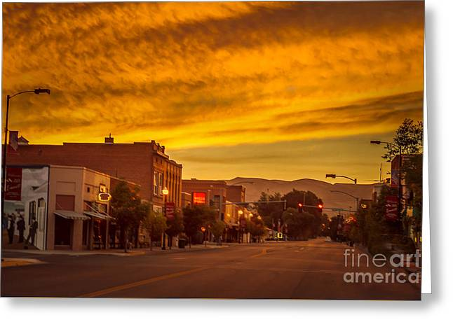Haybale Greeting Cards - Sunrise Over Emmett Greeting Card by Robert Bales
