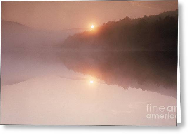 Heart Lake Greeting Cards - Sunrise Over Heart Lake Greeting Card by Bill Longcore