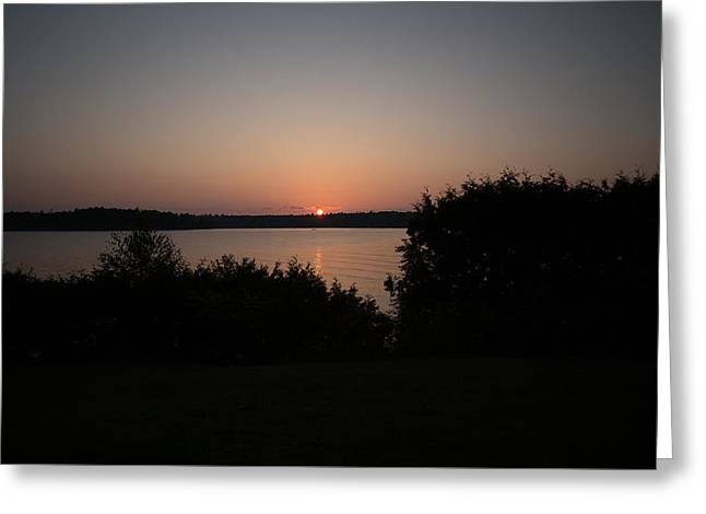 Mountain Valley Greeting Cards - Sunrise over Lake Champlain Greeting Card by Michael French