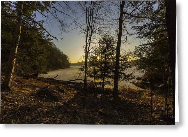 Deer Camp Greeting Cards - Sunrise Over Millsite Greeting Card by Everet Regal