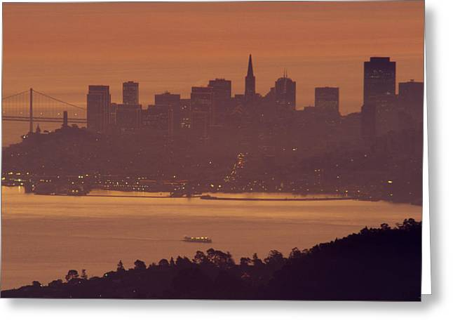 Sunrise Over San Francisco Greeting Card by Soli Deo Gloria Wilderness And Wildlife Photography