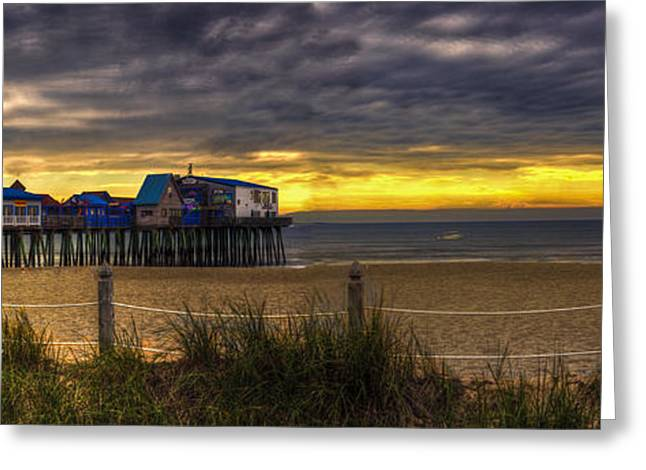 Maine Beach Greeting Cards - Sunrise Over the Empty Beach Greeting Card by David Bishop