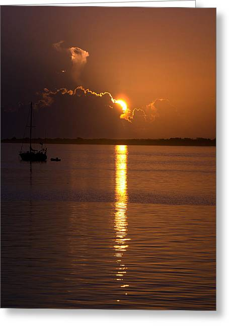 Kristin Smith Greeting Cards - Sunrise over the intracoastal Greeting Card by Kristin Smith