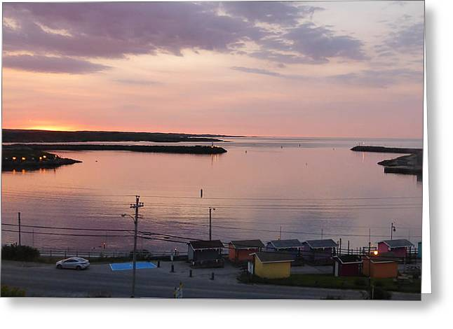 The Escape Capsule Greeting Cards - Sunrise Port aux Basque, Newfoundland  Greeting Card by Joel Deutsch