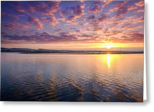 Sunrise Reflex Greeting Card by Mauricio Reis