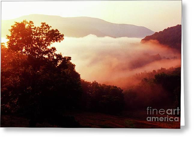 Randolph County Greeting Cards - Sunrise Rich Mountain Greeting Card by Thomas R Fletcher