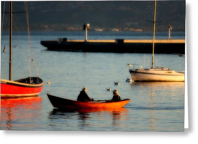Scenic Greeting Cards - Sunrise Row Greeting Card by Bill Keiran