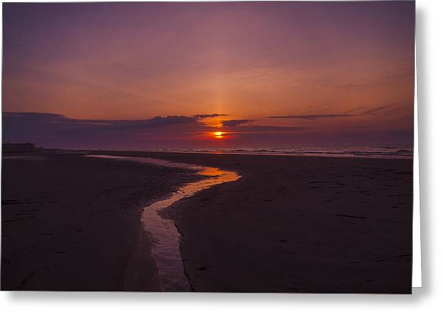 Beach Photography Greeting Cards - Sunrise Seascape Greeting Card by Bill Cannon