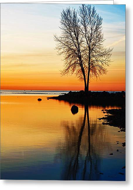 Sunrise Serenity Greeting Card by James Marvin Phelps