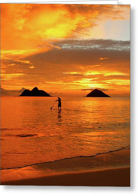 Sup Greeting Cards - Sunrise Standup Greeting Card by Brian Governale