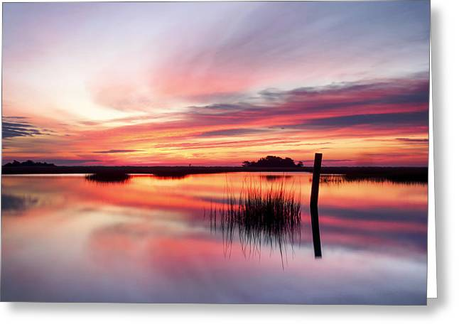 Ocean Art Photography Greeting Cards - SUNRISE SUNSET ART PHOTO - SAILING by Jo Ann Tomaselli    Greeting Card by Jo Ann Tomaselli