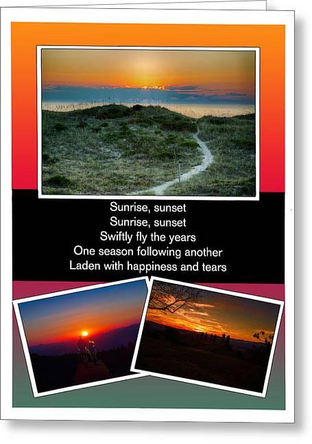 Fiddler On The Roof Greeting Cards - Sunrise Sunset Greeting Card by John Haldane