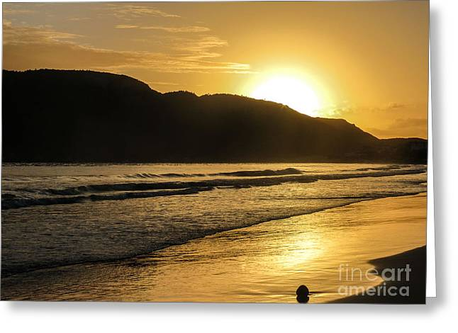 Island Tapestries - Textiles Greeting Cards - Sunrise surprise Greeting Card by James Hennis