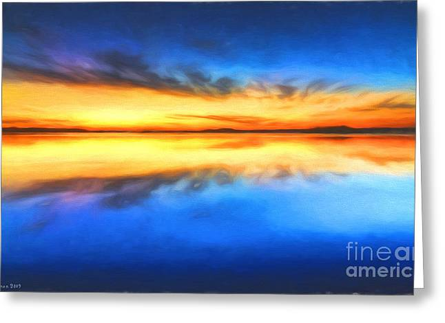 Sunrise Greeting Card by Veikko Suikkanen