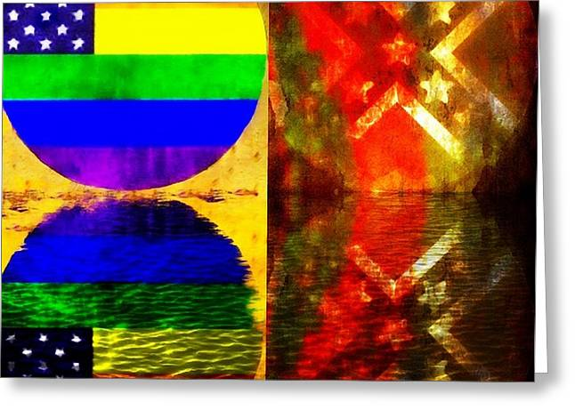 Civil Rights Greeting Cards - Sunrise...Sunset Greeting Card by Ellen Cannon