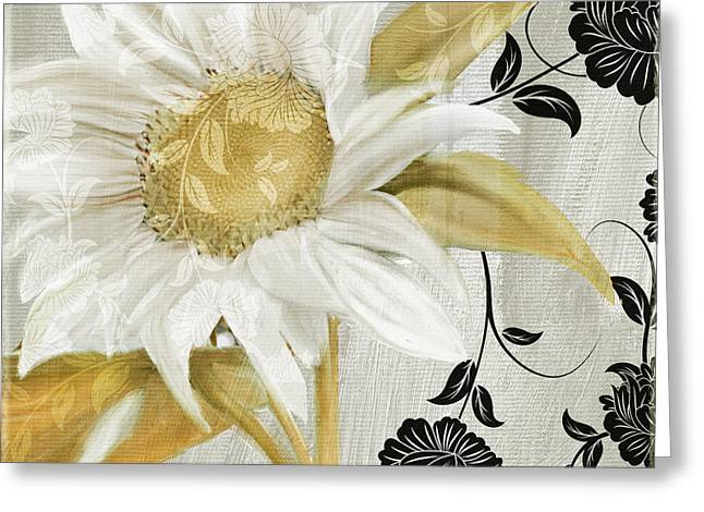 Sunflower Decor Greeting Cards - Sunroom I Greeting Card by Mindy Sommers