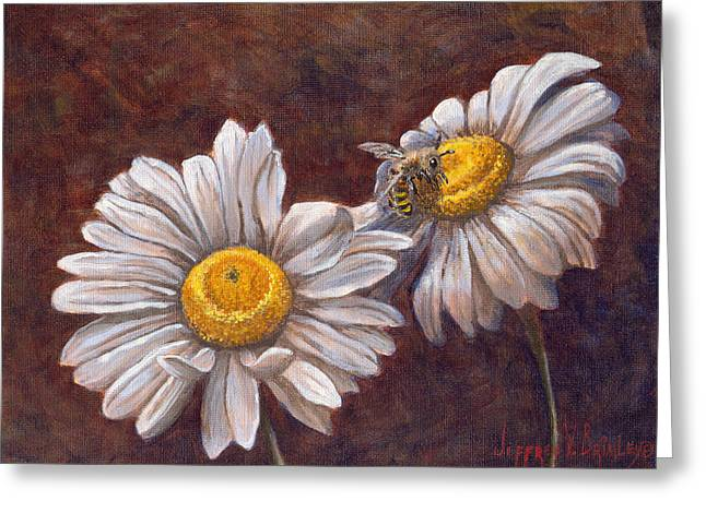 White Petals Greeting Cards - Suns Harvest Greeting Card by Jeff Brimley