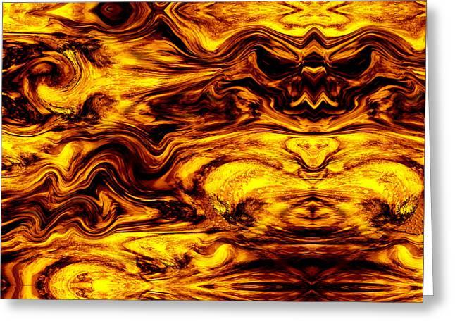 Abstract Expressionist Greeting Cards - Sunscape Halloween Greeting Card by Stephen  Killeen